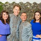 Grainne and Sile Seoige with grooms Don and Pascal.