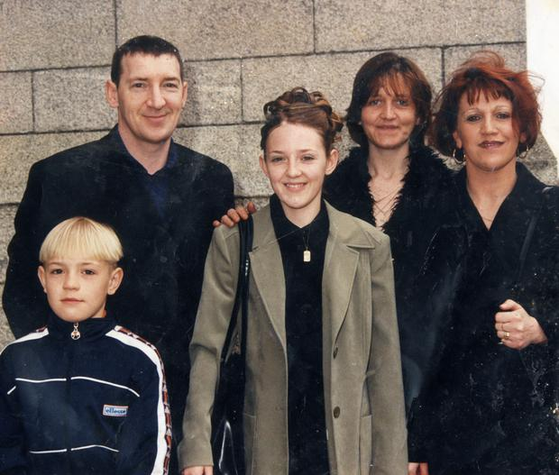 A family snap with (l-r) a young Conor, Tony, Conor's sister Aoife, his aunt Sam and mother Margaret.