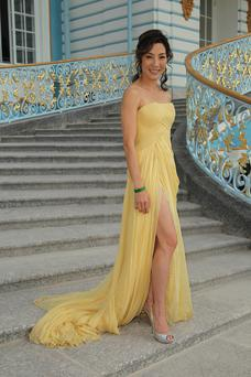 Actress Michelle Yeoh at Catherine Palace, in Pushkin, near Saint Petersburg, Russia. Photo: Sean Gallup/Getty.