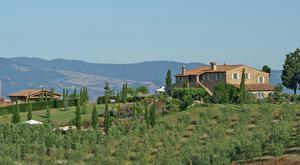 The rolling hills of Tuscany, a geographic location that is, in fact, an enormous work of art.