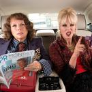 Terrible twosome: Jennifer Saunders and Joanna Lumley return as Eddy and Patsy in 'Ab Fab: The Movie'.