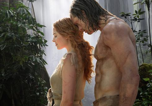 Jungle fever: Margot Robbie and Alexander Skarsgard in 'The Legend of Tarzan'.
