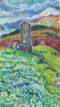 Snowdrops Angel Hill by Sarah Longley