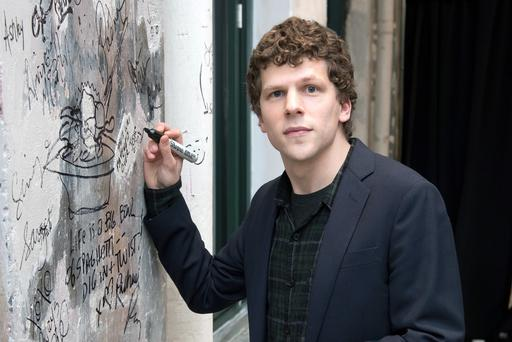 Jesse Eisenberg at AOL Studios in New York. Photo: by Mike Pont/WireImag