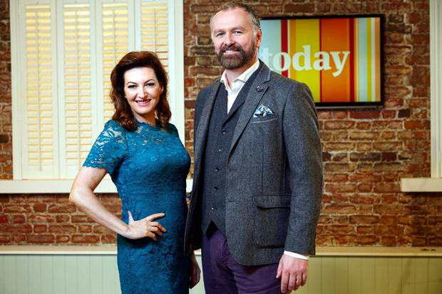 Maura Derrane with co-presenter Daithí Ó Sé on RTÉ's Today.