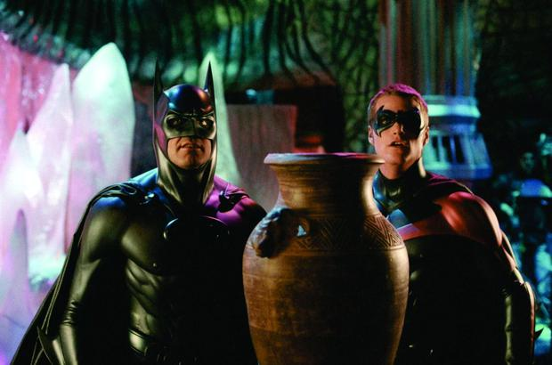 George Clooney and Chris O'Donnell in the dire Batman and Robin