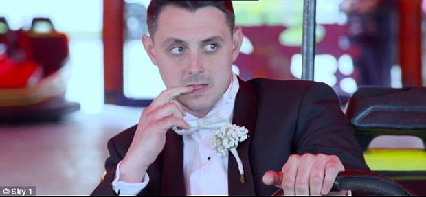 Loz looks apprehensive. Photo: Sky One / Don't Tell The Bride