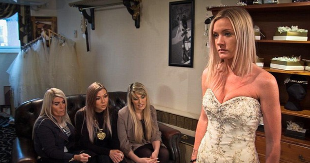 Will Kloe say 'no' to the dress? Photo: Sky One / Don't Tell The Bride