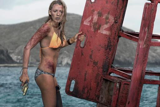 Grave danger: Blake Lively fights off a shark in 'Shallows'