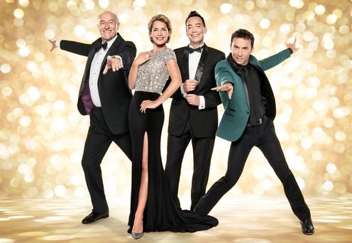 Craig Revel Horwood, second from right, with fellow Strictly judges, from left, Len Goodman, Darcey Bussell, and Bruno Tonioli