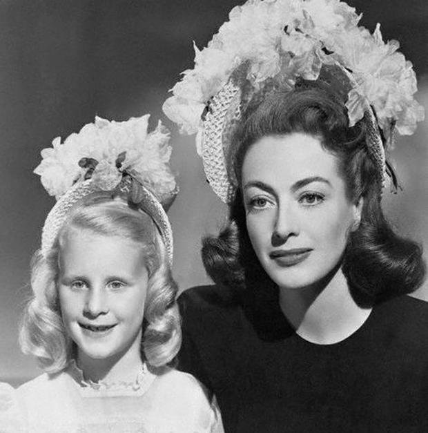 Joan Crawford with her adopted daughter Christina