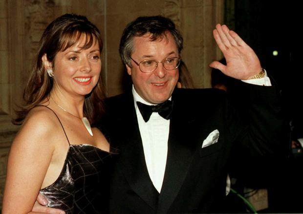 Carol Vorderman with her late friend and co-presenter Richard Whiteley in 1997