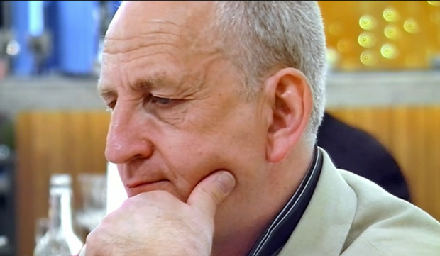 Brian listens intently to one of Mary's tales on First Dates. Photo: Channel 4