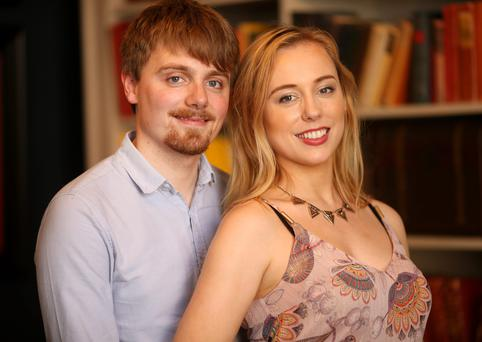 Killian Farrell and Aoife Gibney are sad but excited as they prepare to leave Ireland. Photo: Gerry Mooney