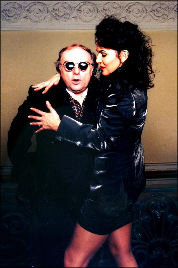 Van Morrison pictured with Michelle Rocca