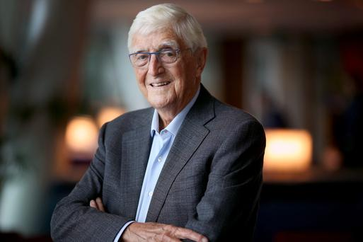 Michael Parkinson, pictured in Dublin last week, says he has been 'blessed' in life