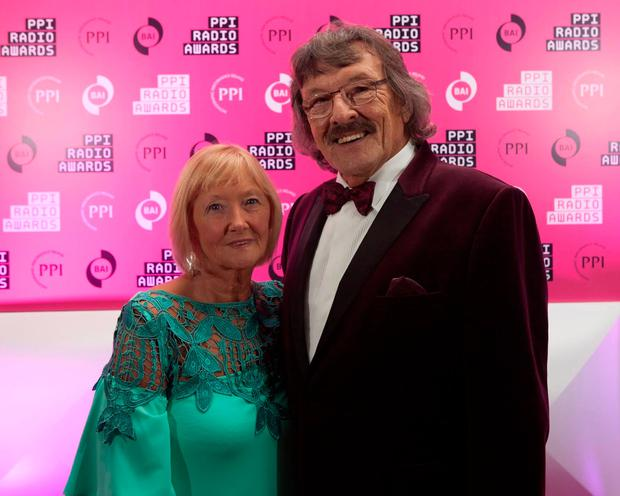 Pictured at the PPI Radio Awards held at Lyrath Estate Hotel this evening were Trevor Campbell, Big T, Downtown Radio and his partner Vi Laird. Photo: Iain White
