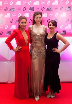 Pictured at the PPI Radio Awards held at Lyrath Estate Hotel this evening were Maxine Orlando, Megan Scully, Laura LynamAll Spin South West. Photo: Iain White