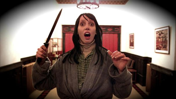 The Shining: Wendy gets a fright.