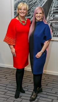 Jo Malone (on left) and Melanie Morris. Photo: Roger Kenny