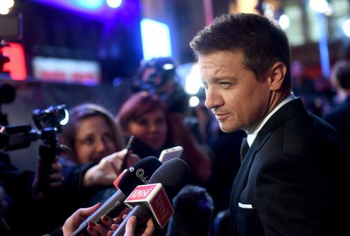 In the spotlight: Renner on the red carpet for Arrival
