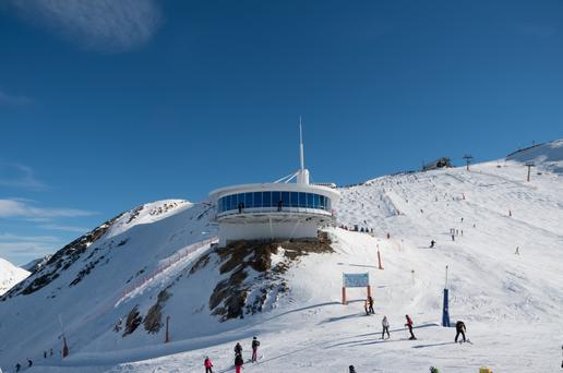 Slip, sliding away: Winter sports on the snowy slopes of a ski resort in Andorra, where skiing in the stunning landscape is life itself for residents and visitors alike