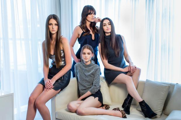 From left: Ciara wears top; skirt, both River Island. Kelly wears top, Victoria Beckham; skirt, Carven, both Brown Thomas. Liliana wears: jumper, Topshop. Shorts; shoes, both River Island. Sarah wears: jumper, Max Mara. Boots, River Island. Photo: Kip Carroll