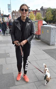 Roz Purcell and her dog Wilko