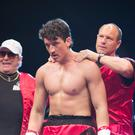 Dramatic: Aaron Eckhart and Miles Teller in Bleed For This