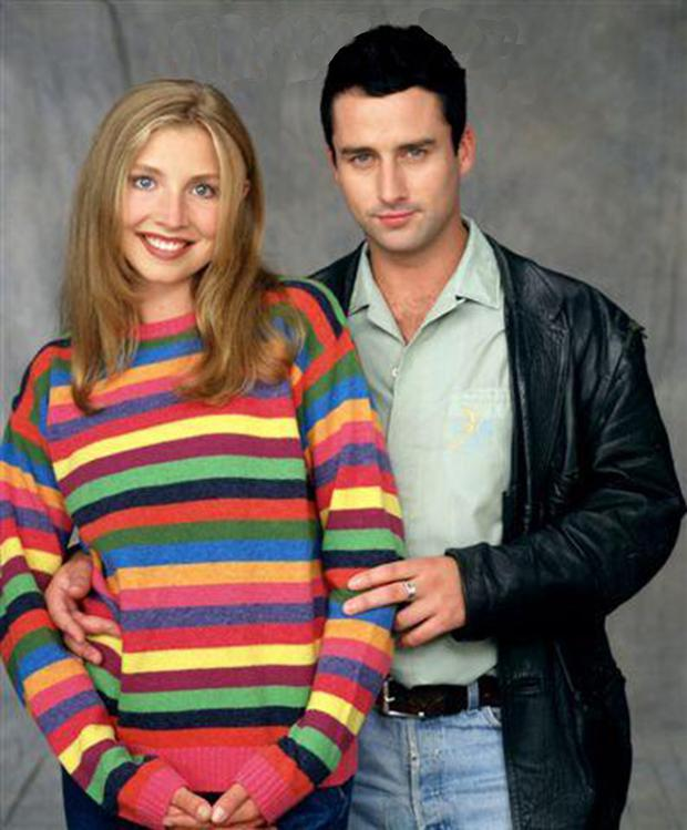 Glenn Quinn and Sarah Chalke starred as Mark and Becky in 'Roseanne'