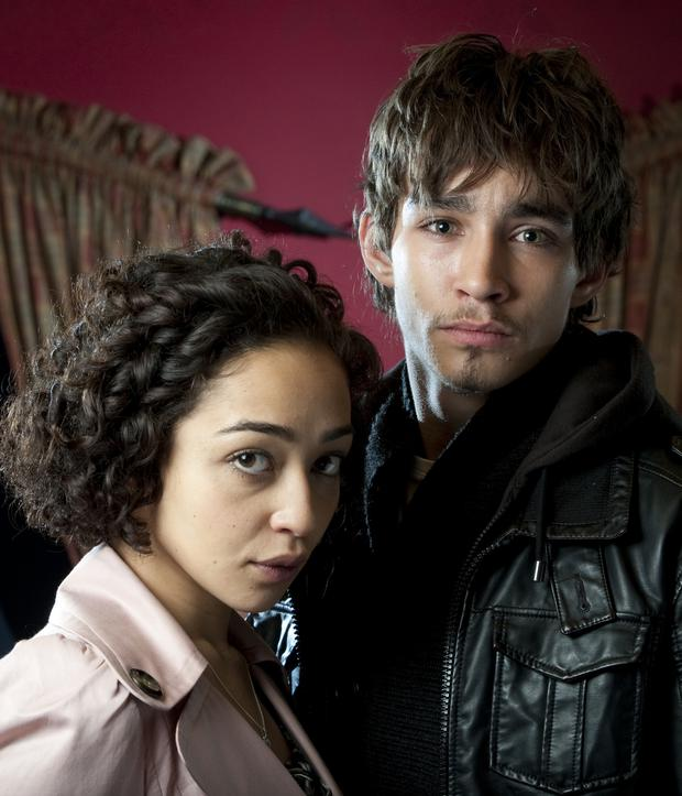 Homegrown talent: Ruth Negga in 'Love Hate' with Robert Sheehan