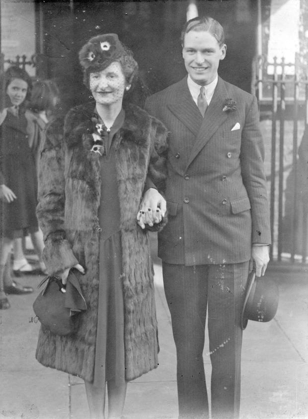 Molly and Bobbie on their wedding day in October, 1939