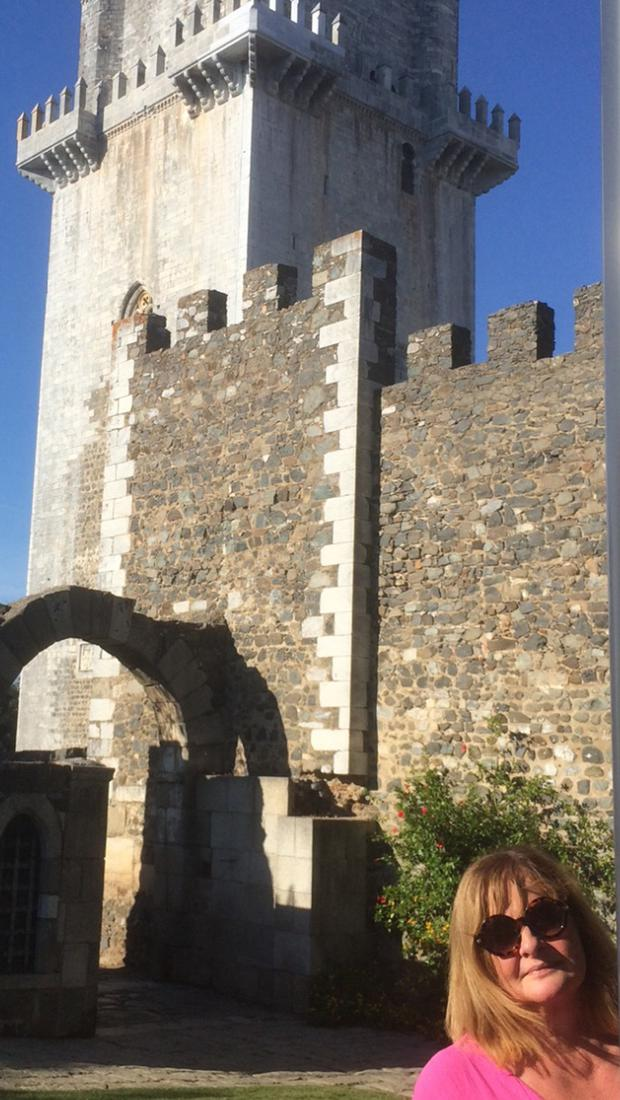 Eleanor outside the castle in Beja