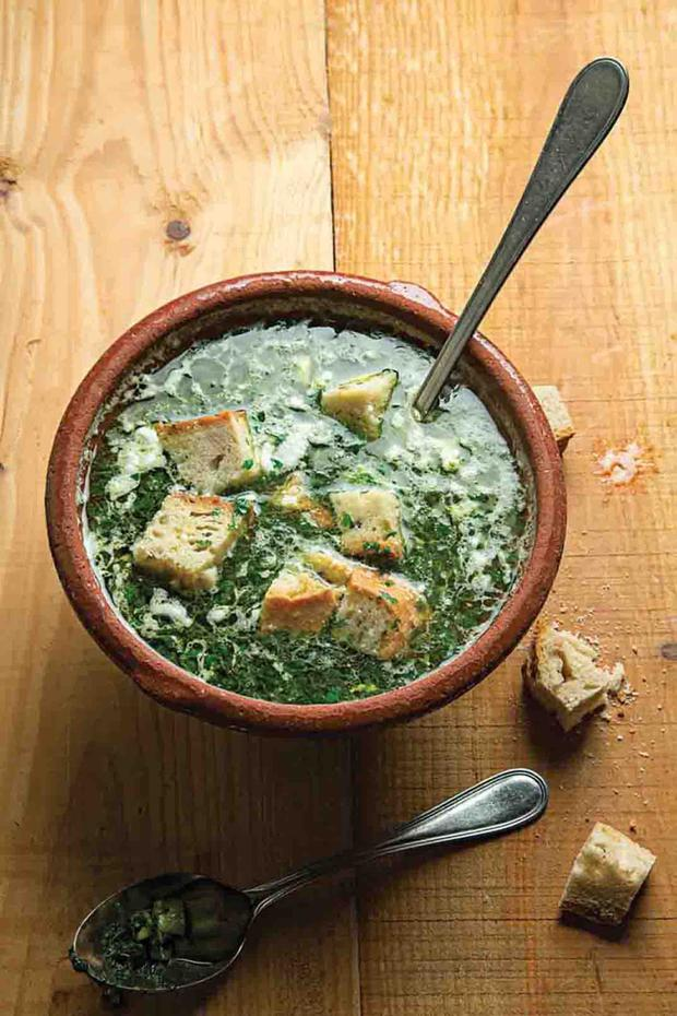 Caldo verde (green soup) is a simple but tasty Alentejo dish