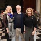 Peter O'Brien with, left, Minister for Jobs, Enterprise and Innovation, Mary Mitchell O'Connor, and, right, chief executive of the Design and Crafts Council of Ireland, Karen Hennessy