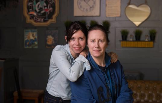 Sisters Eileen and Catherine Walsh were both bitten by the acting bug. Photo: Michael McSweeney