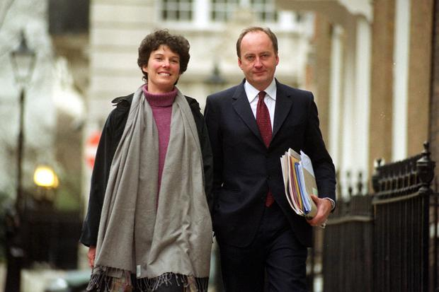 Ella is the daughter of Camilla Sainsbury (of the supermarket family) and the UK's former Northern Ireland secretary Shaun Woodward (right)