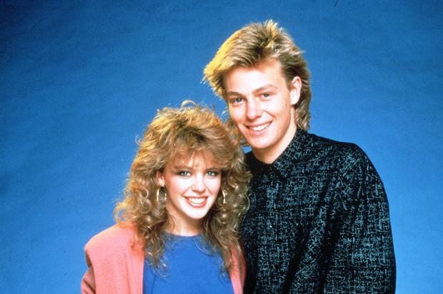 Jason and Kylie in the days of 'Neighbours'