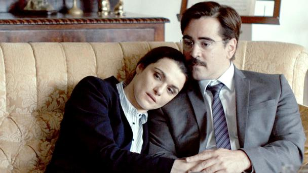 Oscar hope: The Lobster, starring Colin Farrell and Rachel Weisz, is up for best screenplay