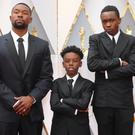 Going for gold: Trevante Rhodes, Alex R Hibbert and Ashton Sanders play the same character at different stages in Moonlight