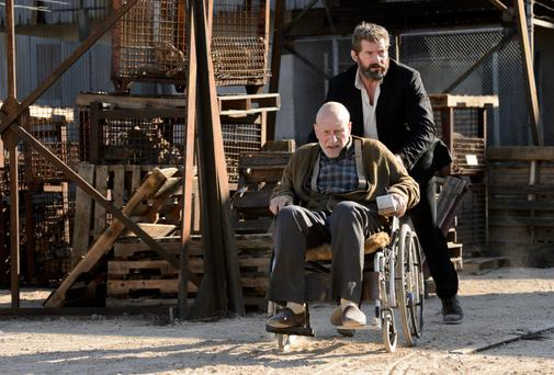 Final call: Hugh Jackman and Patrick Stewart in Logan