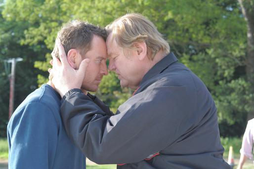 Family business: Michael Fassbender and Brendan Gleeson in Trespass Against Us