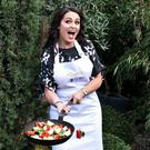 Grainne Seoige struggles with a stir-fry at the launch of 'The Restaurant' Picture: VIPIreland.com