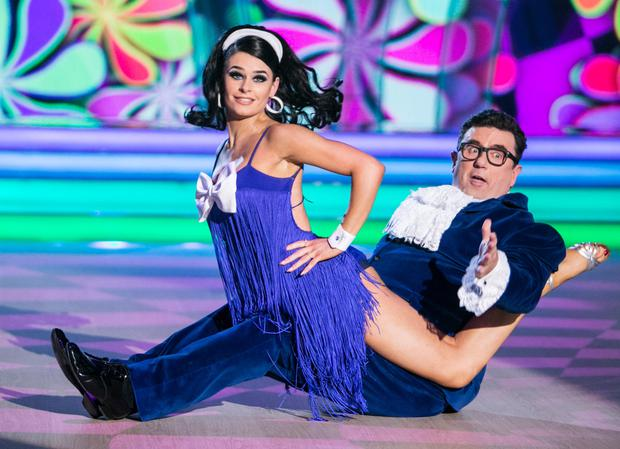 Sunday night fever: Dessie busts a move with dance partner Karen Byrne