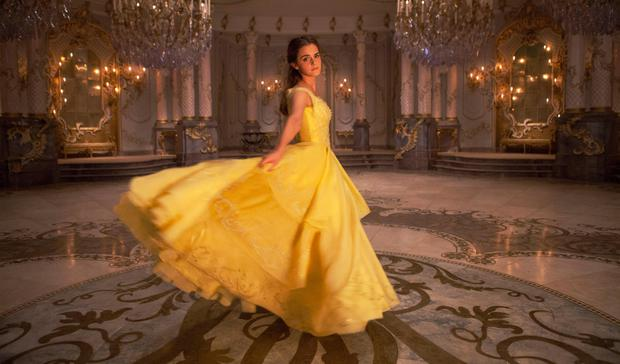 Whirl of activity: Watson as Belle in the new remake of Beauty and the Beast