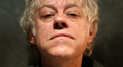 Empathy: Before The Boomtown Rats found fame, singer Bob Geldof lived on the streets in London, in a church crypt, and made money by selling hot dogs and busking Photo: Gerry Mooney