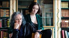 Donovan and his granddaughter Coco Sian are holding an exhibition together. Photo: David Conachy.