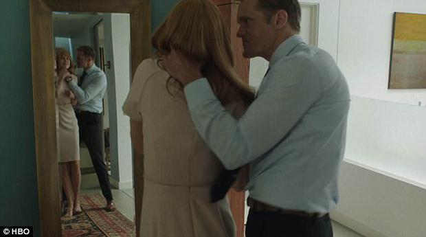 Nicole Kidman plays Celeste, a woman who is in a violent relationship with her husband Perry (Alexander Skarsgård)
