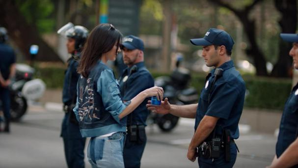 Kendall Jenner in the Pepsi ad