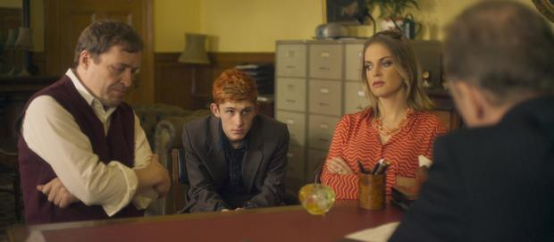 A witty tonic: Ardal O'Hanlon, Fionn O'Shea and Amy Huberman star in Handsome Devil